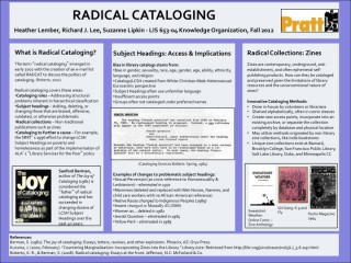 Radical Cataloging: From Words to Action
