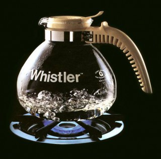 """Whistler"" Glass Tea Kettle for Gemco (1974)"