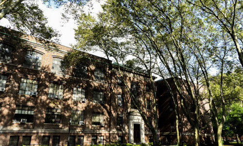 Brooklyn Campus in Summer: A Study of Light and Shade