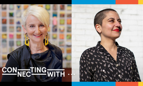 Connecting with… President Frances Bronet and Fine Arts Civic Engagement Fellow Amy Khoshbin