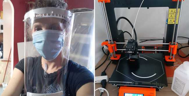 Members of the Pratt Community Sew Masks and 3D-Print Face Shields to Combat COVID-19